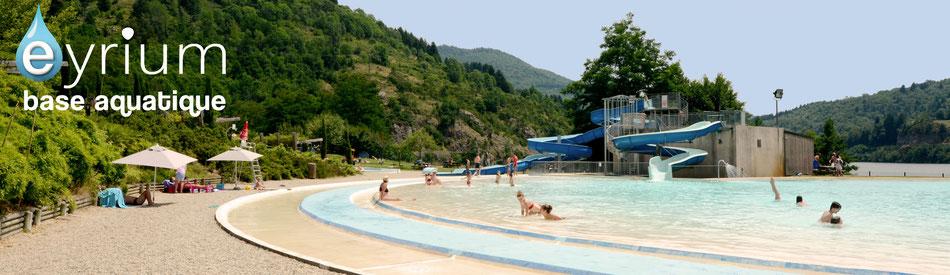 La base aquatique du Cheylard permet de nombreuses activités pour profiter pleinement de vos vacances en Ardèche.