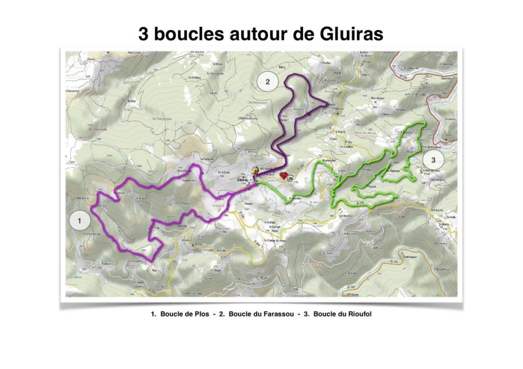 A Gluiras, 3 randonnées sont balisées pour vous promener en toute sécurité. Profitez de vos vacances pour découvrir une belle nature.